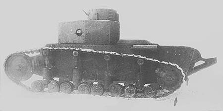 Танк Т-12, фотография, вид слева