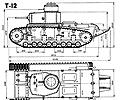 чертёж танка Т-12