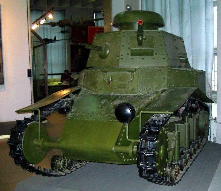 Музейный Танк Т-18, вид спереди