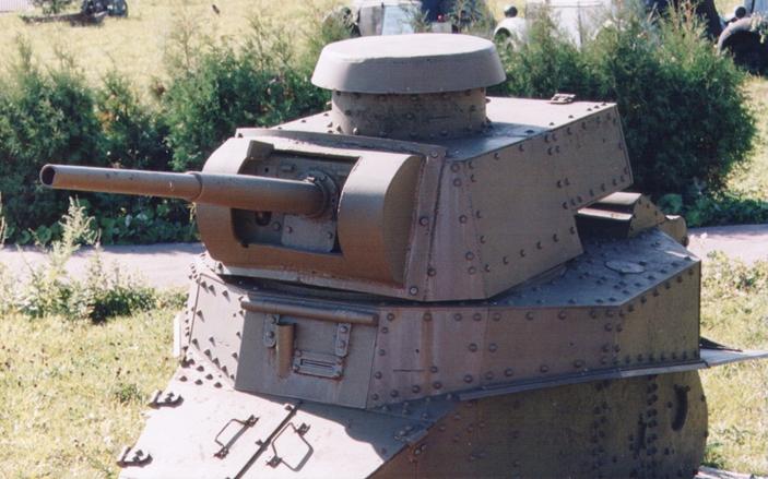Танк Т-18, башня, вид спереди