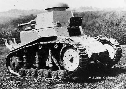 Танк Т-18 с развёрнутой башней