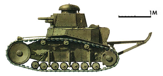 Танк Т-18, схема окраски, вид слева
