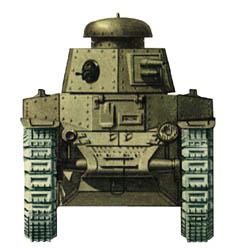 Танк Т-18, схема окраски, вид спереди