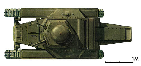 Танк Т-18, схема окраски, вид сверху