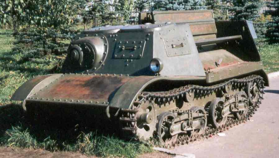 Танк Т-20, вид спереди