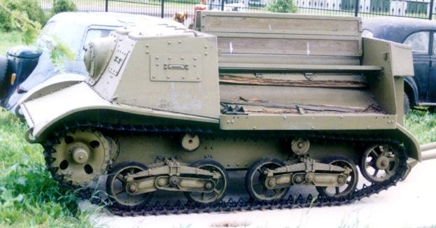 Танк Т-20, вид слева, подробный
