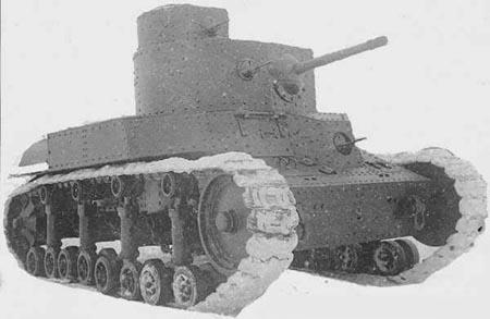 Танк Т-24, военная фотография