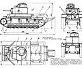 танк Т-24, чертёж танка