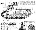 танк Т-24, чертёж танка с детализацией