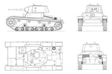 Танк Т-26 в чертежах