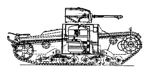 Танк Т-26, чертёж поворотного механизма башни