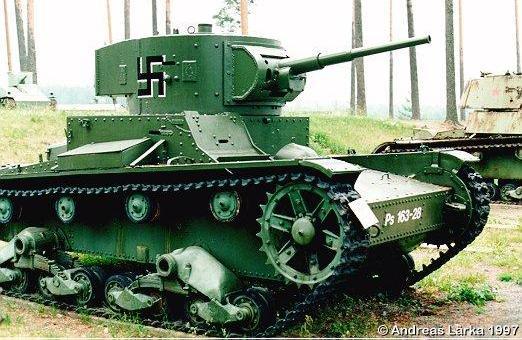 Танк Т-26, трофей