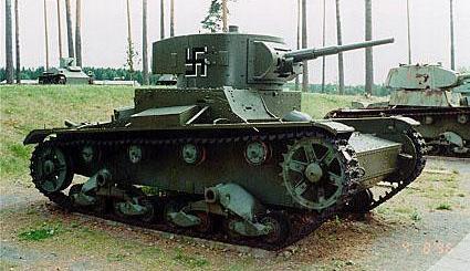 Танк Т-26, с крестом