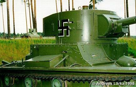 Танк Т-26, захваченный