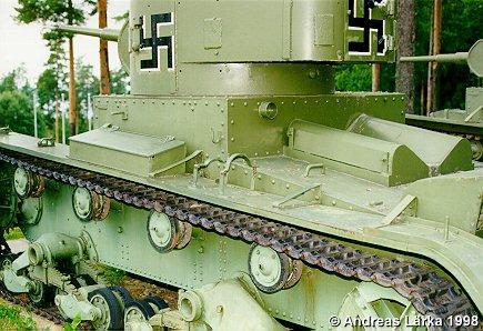 Танк Т-26, сохранившейся трофейный танк