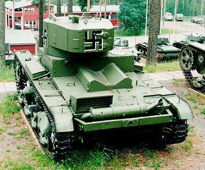 Танк Т-26 захваченный врагом