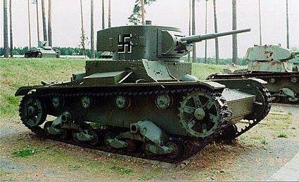 Танк Т-26 в немецком музее