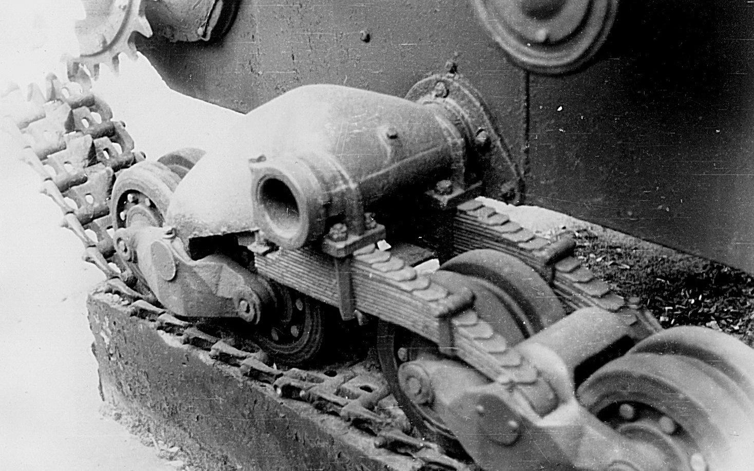 Танк Т-26, подвеска катков