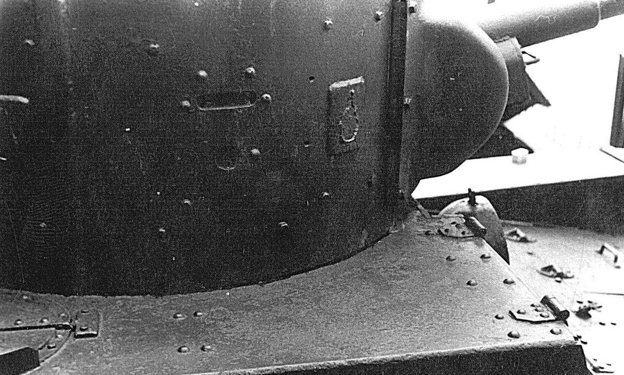 Танк Т-26, башня крупным планом