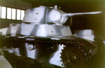 Танк Т-26, зимняя окраска, правая часть