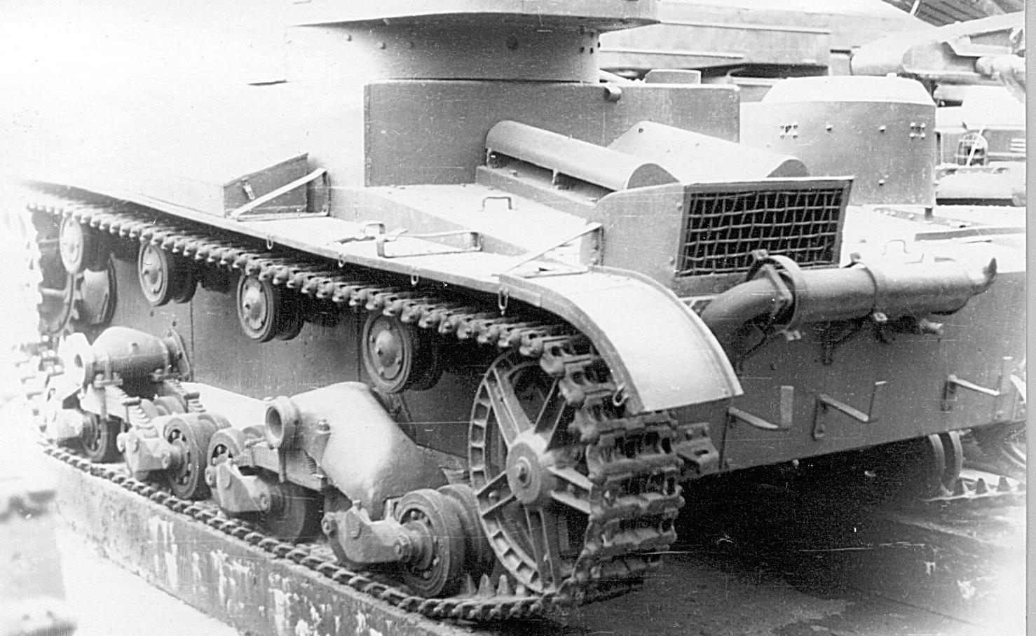 Танк Т-26, короб радиатора