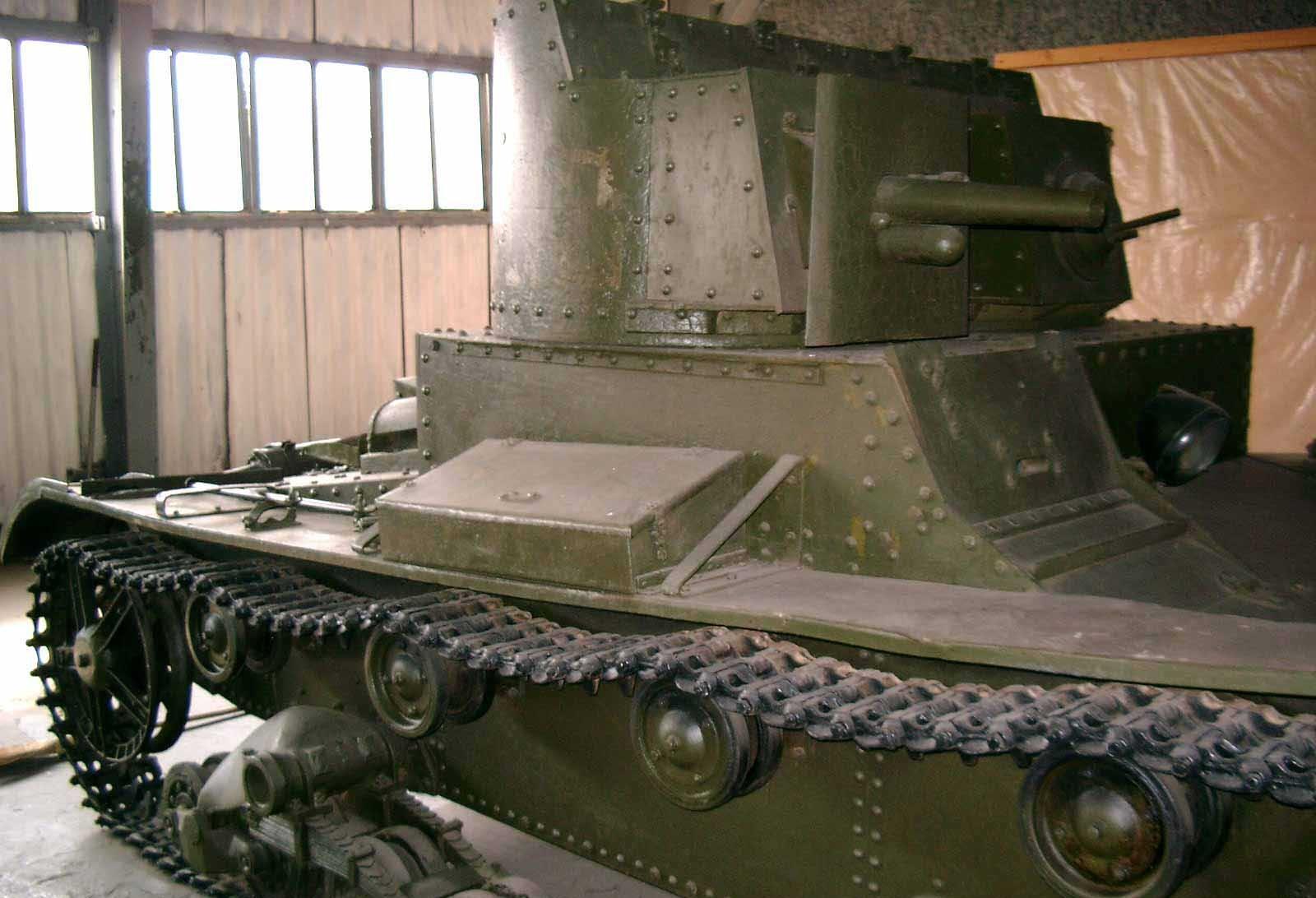 Танк Т-26, поддерживающие катки