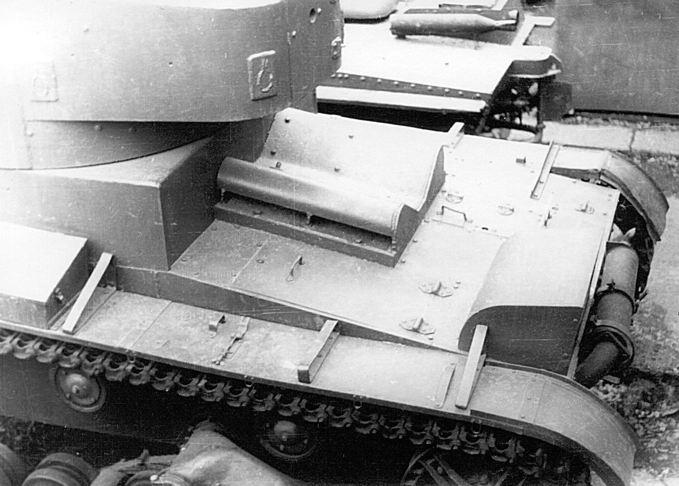 Танк Т-26, бронирование мотора