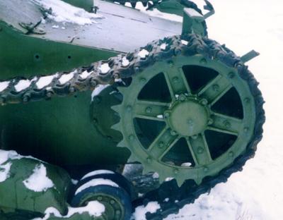 Танк Т-26, ведущее колесо