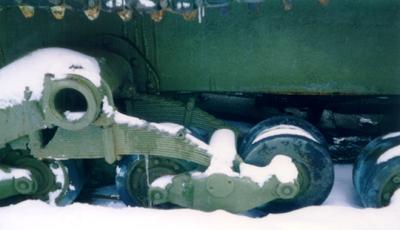Танк Т-26, колесная тележка