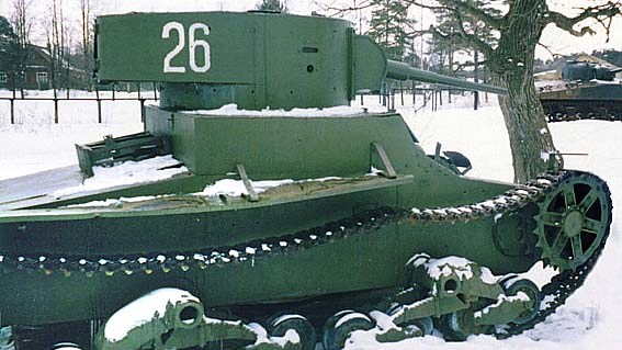 Танк Т-26 как экспонат музея