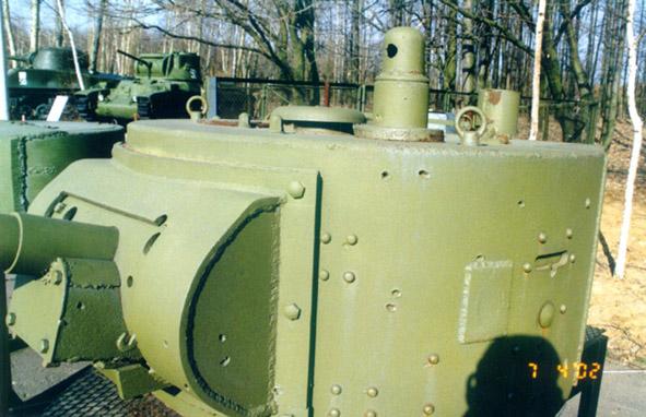 Танк Т-26, башня крупно