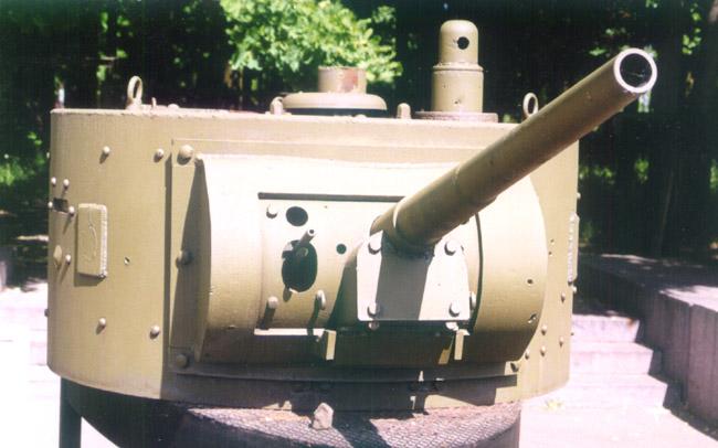 Танк Т-26, башня, вид спереди
