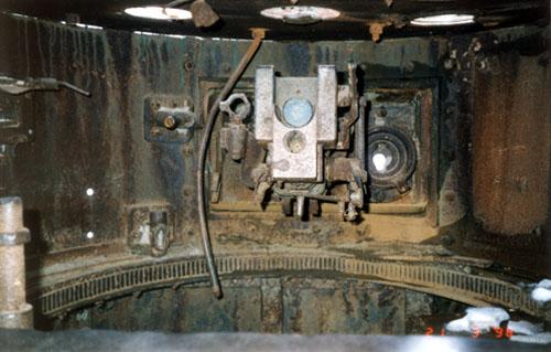 Танк Т-26, интерьер башни