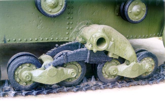Танк Т-26, подвеска