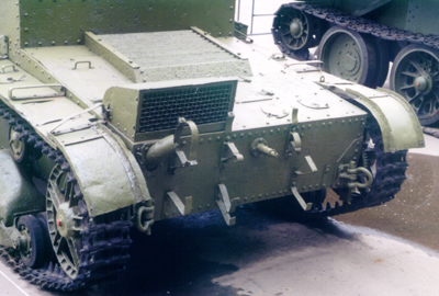 Танк Т-26, выхлопная труба