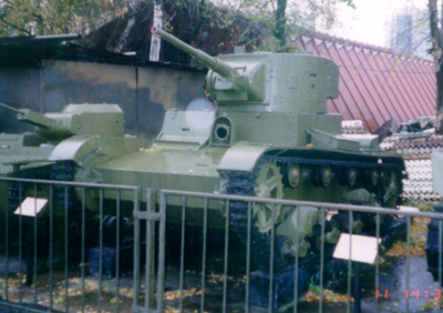 Танк Т-26 на экспозиции