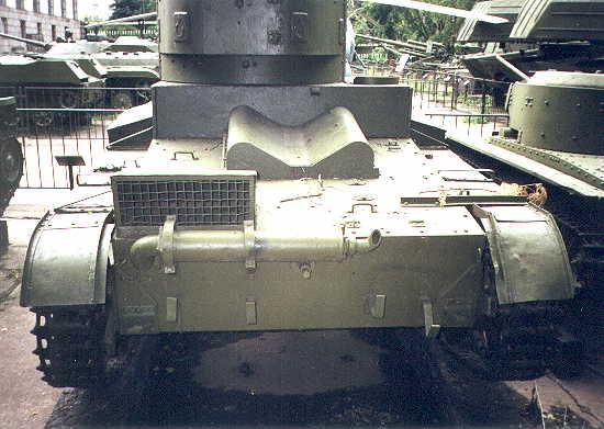 Танк Т-26, крепление глушителя