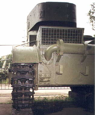 Танк Т-26, выхлопная система