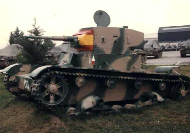 Танк Т-26 в камуфляже