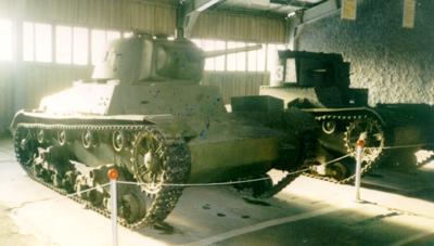 Танк Т-26, вид спереди, справа