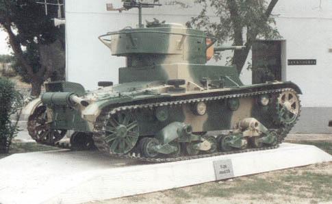 Танк Т-26, вид сзади справа