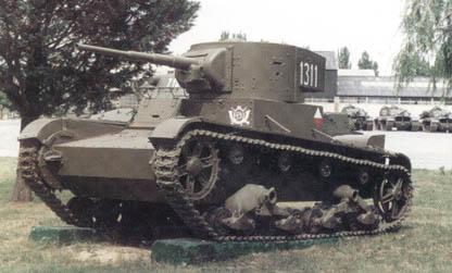 Танк Т-26, старое фото