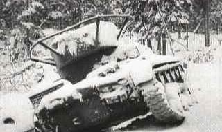 Танк Т-26 на косогоре