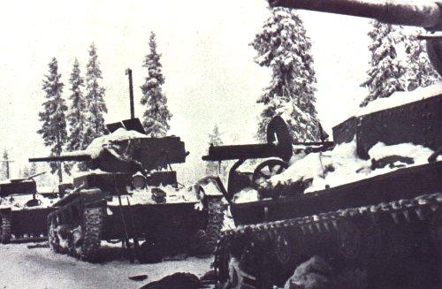 Танк Т-26 зимой, документальное фото