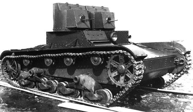 Танк Т-26, преодоление препятствий