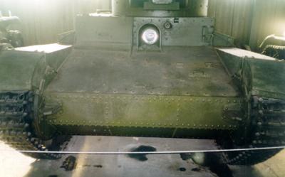 Танк Т-26, передняя броня