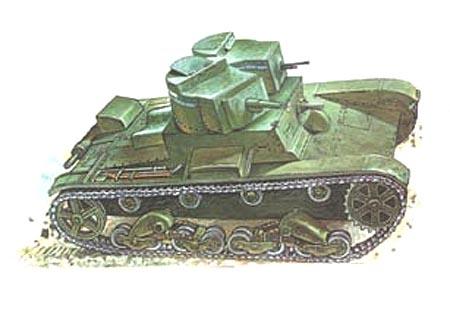 Танк Т-26 двухбашенный, рисунок