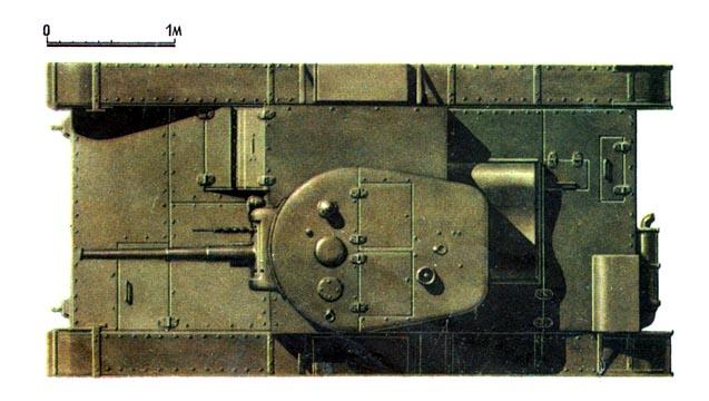 Танк Т-26, схема окраски, вид сверху