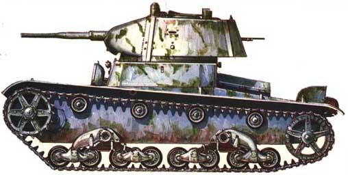 Танк Т-26, схема окраски, зимний вариант