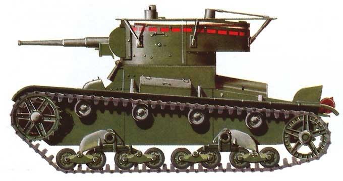 Танк Т-26, схема окраски командирской машины
